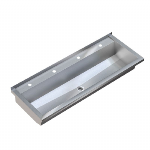 Franke PLANOX PL24T-UK 2400mm Stainless Steel Wash Trough (4 Tap Holes)